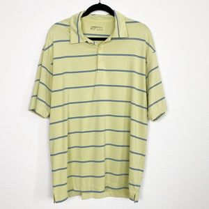 Nike Golf Green Striped Fit Dry Polo Shirt